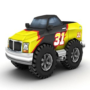 3D Cartoon Monster Truck Puzzle