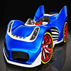 Blue Cartoon Racing Car