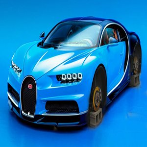 Bugatti No Wheels Racing Car