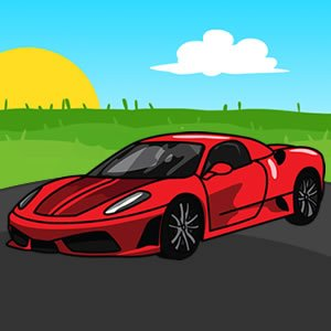 Ferrari Cartoon Puzzle
