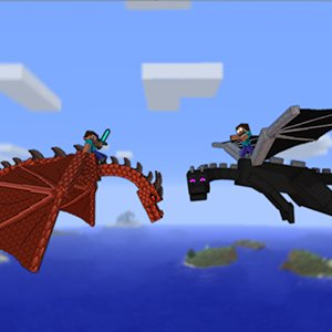 Minecraft Dragon Fight