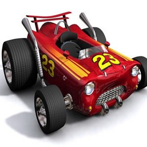 Racing Red Car Puzzle
